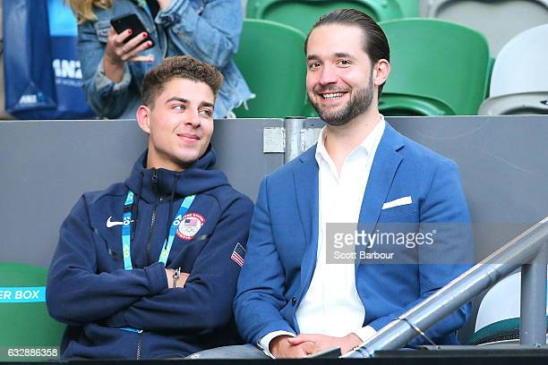 Alexis Ohanian attends the Women's Singles Final match between Venus Williams of the United States and Serena Williams of the United States on day 13...