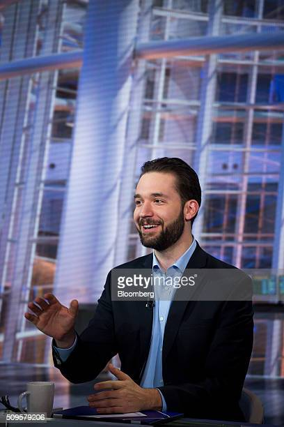 Alexis Ohanian chairman and cofounder of Reddit Inc speaks during a Bloomberg Television interview in New York US on Thursday Feb 11 2016 Ohanian...