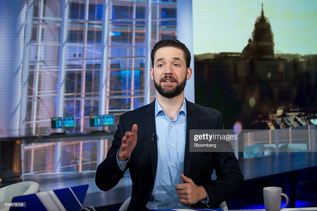 Alexis Ohanian, chairman and co-founder of Reddit Inc., speaks during a Bloomberg Television interview in New York, U.S., on Thursday, Feb. 11, 2016. Ohanian discussed leadership in corporations and politics and the challenge to innovate under corporate constraints. Photographer: Michael Nagle/Bloomberg via Getty Images