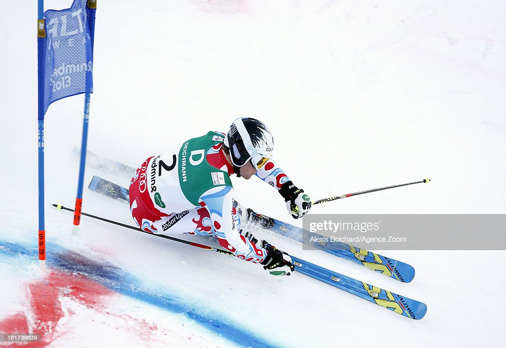 Alexis Pinturault of France competes during the Audi FIS Alpine Ski World Championships Men's Giant slalom on February 15, 2013 in Schladming, Austria.