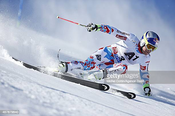 Alexis Pinturault of France competes during the Audi FIS Alpine Ski World Cup Men's Giant Slalom on October 26 2014 in Soelden Austria