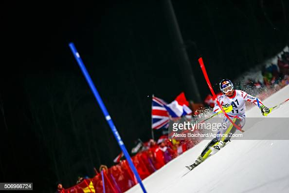 Alexis Pinturault of France competes during the Audi FIS Alpine Ski World Cup Men's Slalom on January 26 2016 in Schladming Austria
