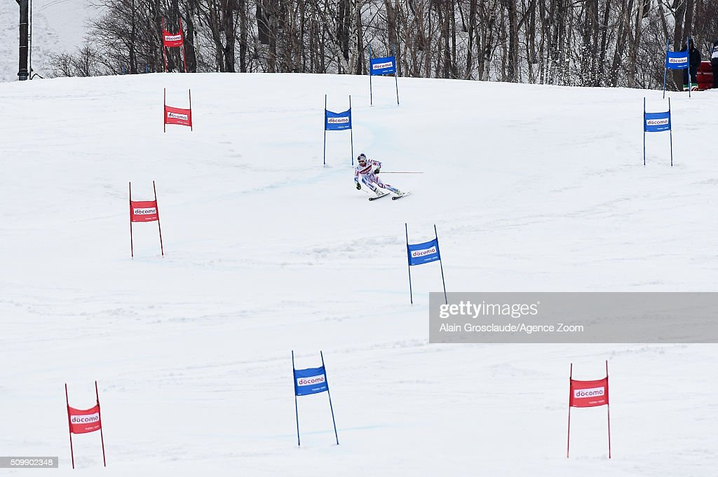 <a gi-track='captionPersonalityLinkClicked' href=/galleries/search?phrase=Alexis+Pinturault&family=editorial&specificpeople=6587717 ng-click='$event.stopPropagation()'>Alexis Pinturault</a> of France competes during the Audi FIS Alpine Ski World Cup Men's Giant Slalom on February 13, 2016 in Naeba, Japan.