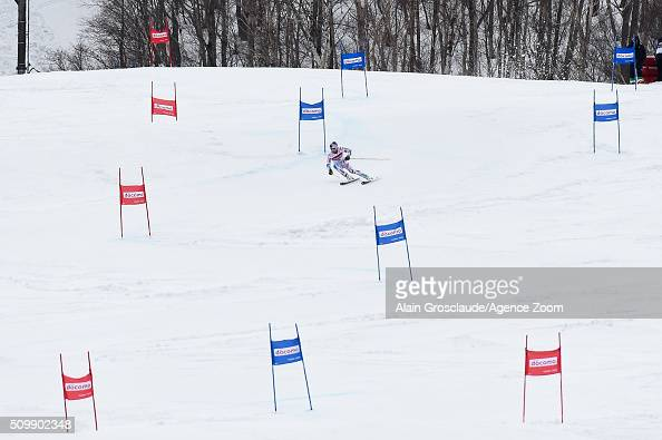 Alexis Pinturault of France competes during the Audi FIS Alpine Ski World Cup Men's Giant Slalom on February 13 2016 in Naeba Japan