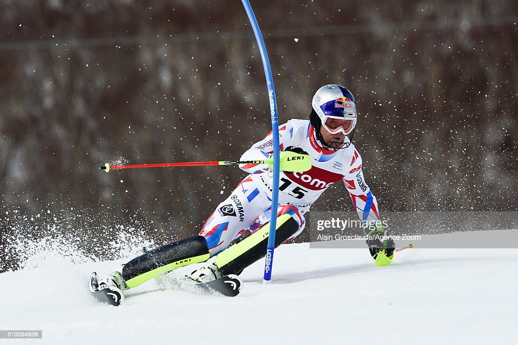 <a gi-track='captionPersonalityLinkClicked' href=/galleries/search?phrase=Alexis+Pinturault&family=editorial&specificpeople=6587717 ng-click='$event.stopPropagation()'>Alexis Pinturault</a> of France competes during the Audi FIS Alpine Ski World Cup Men's Slalom on February 14, 2016 in Naeba, Japan.