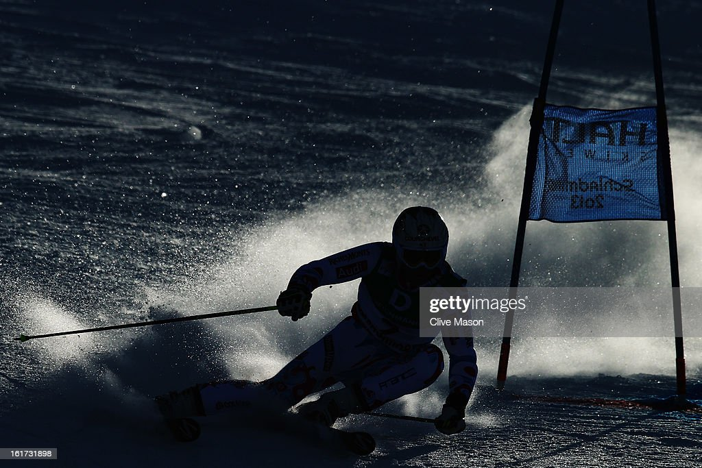 Alexis Pinturault of France skis in the Men's Giant Slalom during the Alpine FIS Ski World Championships on February 15, 2013 in Schladming, Austria.