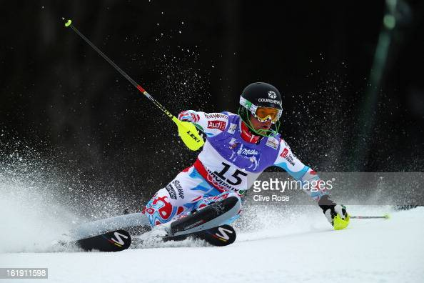 Alexis Pinturault of France skis in the Men's Slalom during the Alpine FIS Ski World Championships on February 17 2013 in Schladming Austria