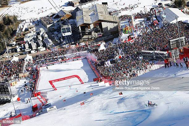 Alexis Pinturault of France takes 1st place during the Audi FIS Alpine Ski World Cup Men's Giant Slalom on December 10 2016 in Vald'Isere France