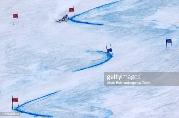 Alexis Pinturault of France takes 2nd place during the Audi FIS Alpine Ski World Cup Men's Giant Slalom on October 27 2013 in Soelden Austria