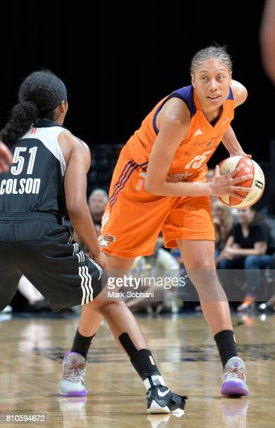 Alexis Prince of the Phoenix Mercury handles the ball against the San Antonio Stars on July 7 2017 at the ATT Center in San Antonio Texas NOTE TO...