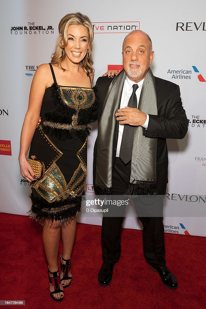 Alexis Roderick (L) and <a gi-track='captionPersonalityLinkClicked' href=/galleries/search?phrase=Billy+Joel&family=editorial&specificpeople=203097 ng-click='$event.stopPropagation()'>Billy Joel</a> attend the Elton John AIDS Foundation's 12th Annual An Enduring Vision Benefit at Cipriani Wall Street on October 15, 2013 in New York City.