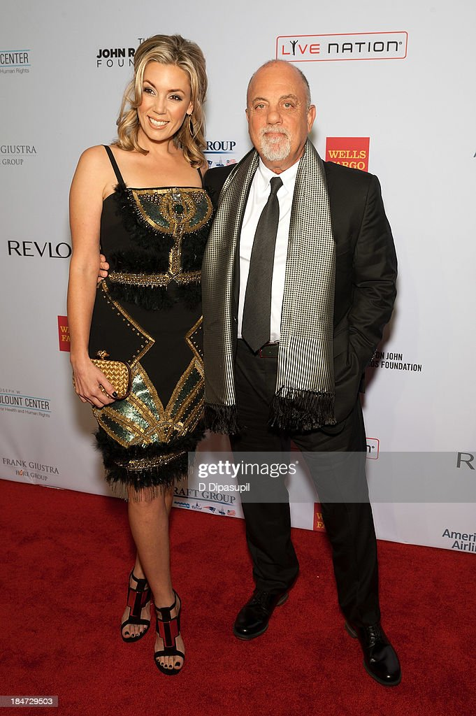 Alexis Roderick (L) and Billy Joel attend the Elton John AIDS Foundation's 12th Annual An Enduring Vision Benefit at Cipriani Wall Street on October 15, 2013 in New York City.