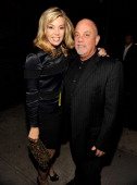 Alexis Roderick and Billy Joel backstage during STING 25th Anniversary/60th Birthday Concert to Benefit Robin Hood Foundation at Beacon Theatre on...