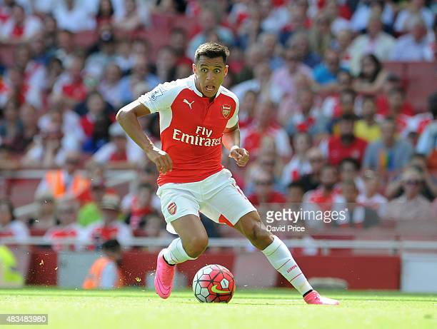 Alexis Sanchez of Arsenal during the Barclays Premier League match between Arsenal and West Ham United at