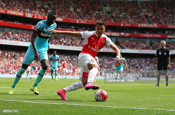 Alexis Sanchez of Arsenal during the Barclays Premier League match between Arsenal and West Ham United at Emirates Stadium on August 9 2015 in London...