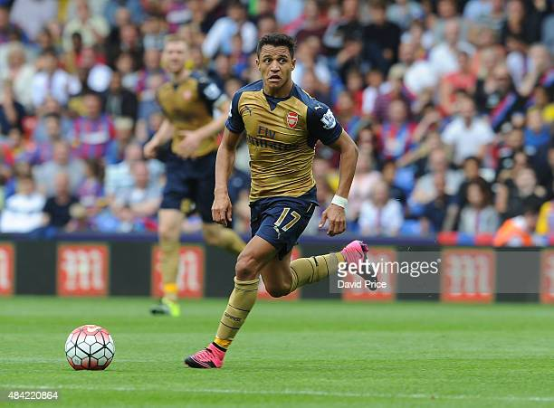 Alexis Sanchez of Arsenal during the Barclays Premier League match between Crystal Palace and Arsenal on August 16 2015 in London United Kingdom