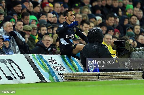 Alexis Sanchez of Arsenal during the Barclays Premier League match between Norwich City and Arsenal at Carrow Road stadium on November 29 2015 in...