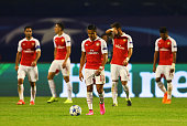 Alexis Sanchez of Arsenal looks dejected after the second Dinamo Zagreb goal during the UEFA Champions League Group F match between Dinamo Zagreb and...