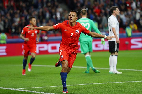 هدف تشيلي الأول في مرمى ألمانيا