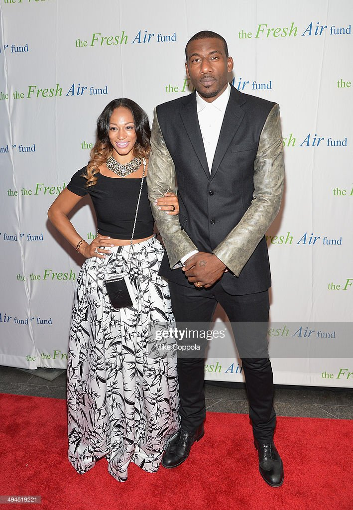 Alexis Stoudemire and Amar'e Stoudemire attend the 2014 Fresh Air Fund Honoring Our American Hero at Pier Sixty at Chelsea Piers on May 29 2014 in...