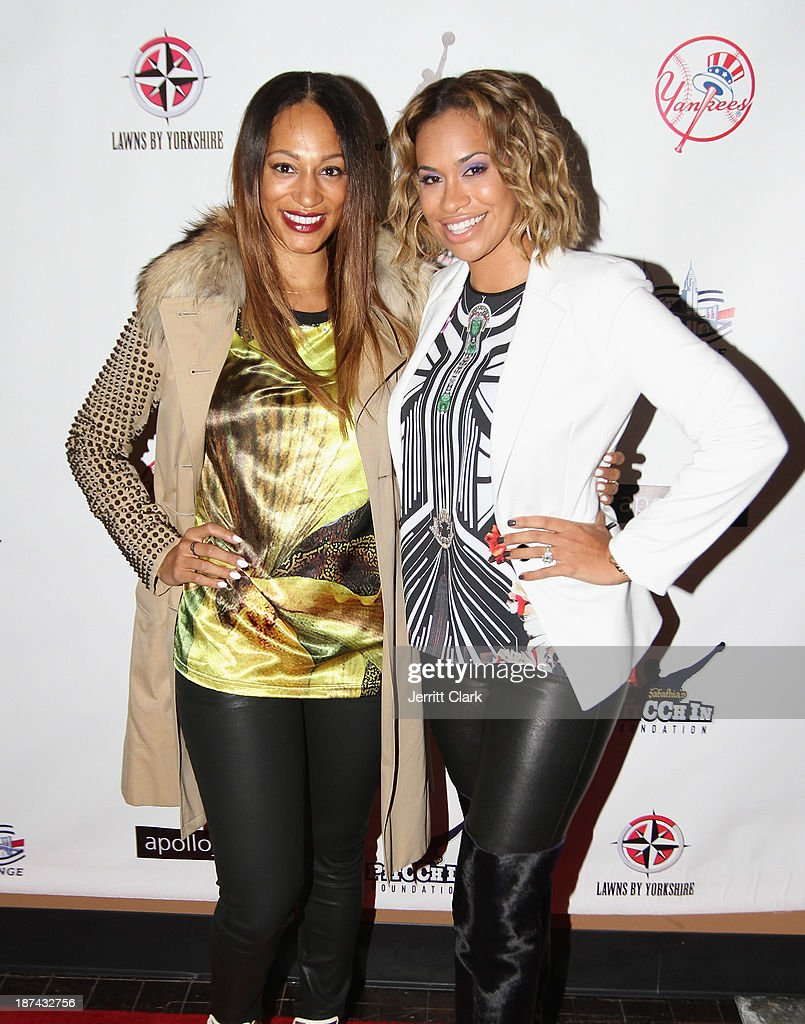 Alexis Stoudemire and Amber Sabathia attend the PitCCh In Foundation 2013 Challenge Rules Party at Luxe at Lucky Strike Lanes on November 8, 2013 in New York City.