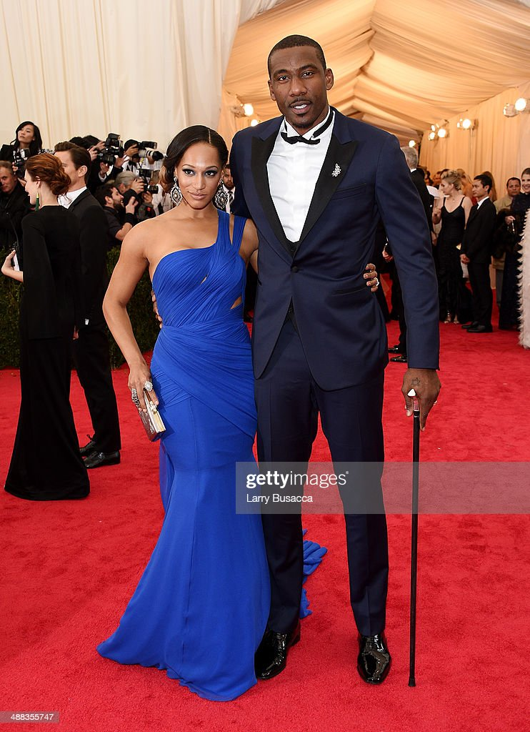 Alexis Stoudemire (L) and NBA player Amar'e Stoudemire attend the 'Charles James: Beyond Fashion' Costume Institute Gala at the Metropolitan Museum of Art on May 5, 2014 in New York City.