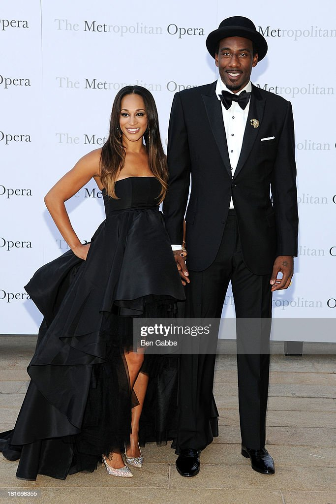 Alexis Stoudemire (L) and NBA player Amar'e Stoudemire attend the Metropolitan Opera season opening production of 'Eugene Onegin' at The Metropolitan Opera House on September 23, 2013 in New York City.