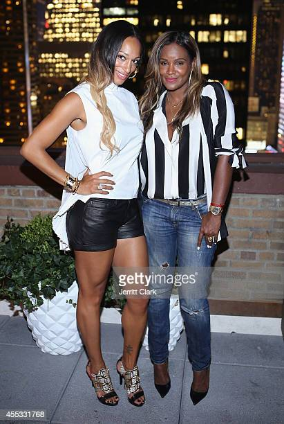 Alexis Stoudemire and Tameka Raymond attend the National Basketball Wives Association's 'Behind The Bench' Pampering Night at WestHouse Hotel on...