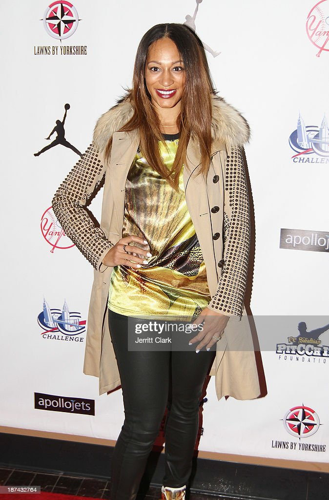 Alexis Stoudemire attends the PitCCh In Foundation 2013 Challenge Rules Party at Luxe at Lucky Strike Lanes on November 8, 2013 in New York City.