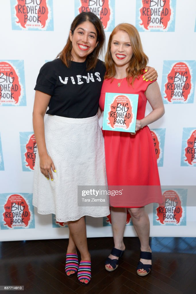 Alexis Tirado and Erin La Rosa attend the book launch celebration for Erin La Rosa's 'The Big Redhead Book' at Blushington on August 22, 2017 in West Hollywood, California.