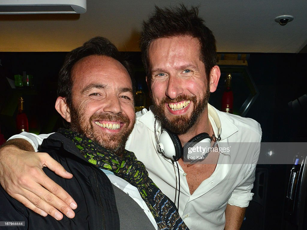Alexis Tregarot and Sam Bobino attend the Sam Bobino DJ Set Party At The Hotel O on April 25, 2013 in Paris, France.