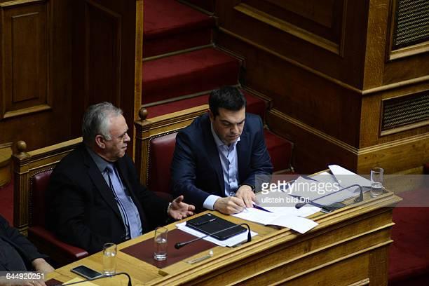 Alexis Tsipras and Giannis Dragasakis