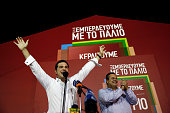 Alexis Tsipras Greece's incoming prime minister and leader of the Syriza party celebrates as he secures victory in the general election in Athens...