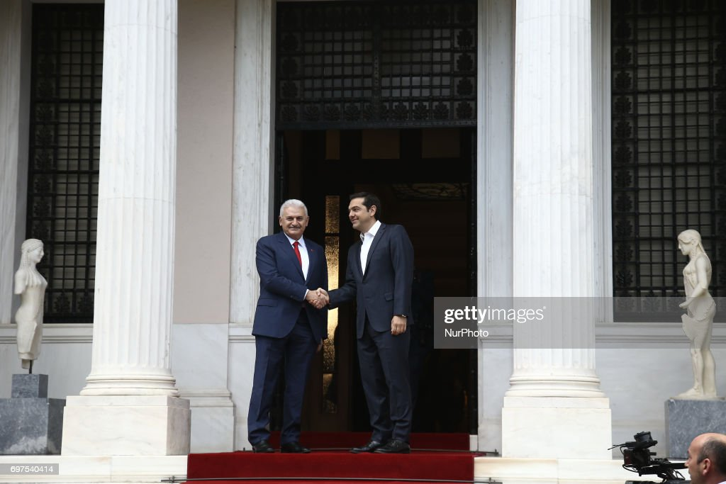 Turkish PM Binali Yildirim in Athens