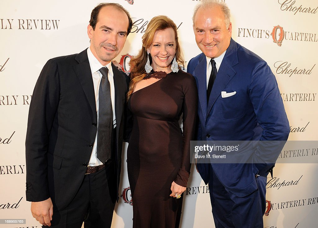 Alexis Veller, Caroline Scheufele and Charles Finch attend the annual Finch's Quarterly Review Filmmakers Dinner hosted by Charles Finch, Caroline Scheufele and Nick Foulkes at Hotel Du Cap Eden Roc on May 17, 2013 in Antibes, France.