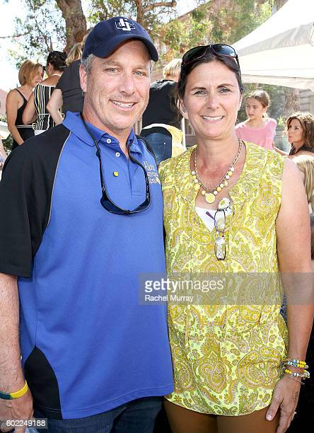 Alex's Lemonade Stand Foundation CoExecutive Directors Jay Scott and Liz Scott attend the 7th annual LA Loves Alex's Lemonade at UCLA on September 10...