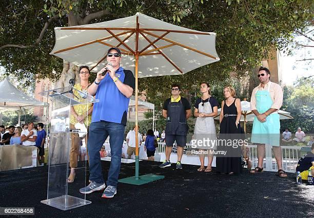 Alex's Lemonade Stand Foundation CoExecutive Directors Jay Scott and Liz Scott speak onstage during the 7th annual LA Loves Alex's Lemonade at UCLA...