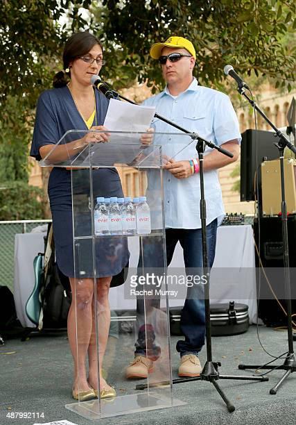 Alex's Lemonade Stand Foundation CoExecutive Directors Liz Scott and Jay Scott speak on stage during LA Loves Alex's Lemonade on September 12 2015 in...