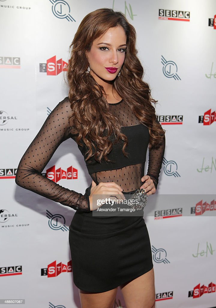 Aleyda Ortiz arrives at the Jencarlos Canela private concert to present his new album 'Jen' at The Stage on May 6, 2014 in Miami, Florida.