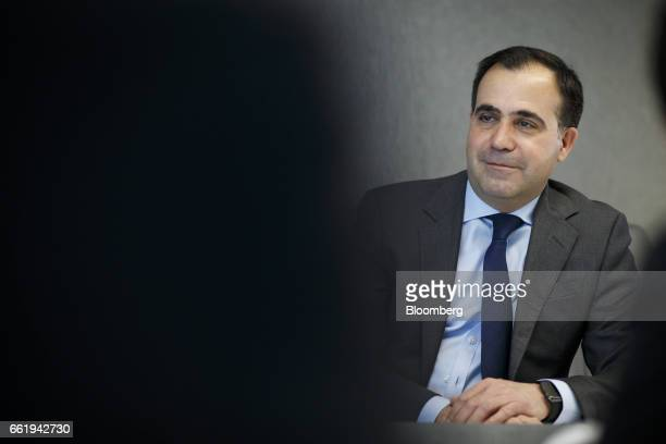 Alf Barrios chief executive of Rio Tinto Alcan Inc listens during an interview in Toronto Ontario Canada on Friday March 31 2017 'The Canadian and...