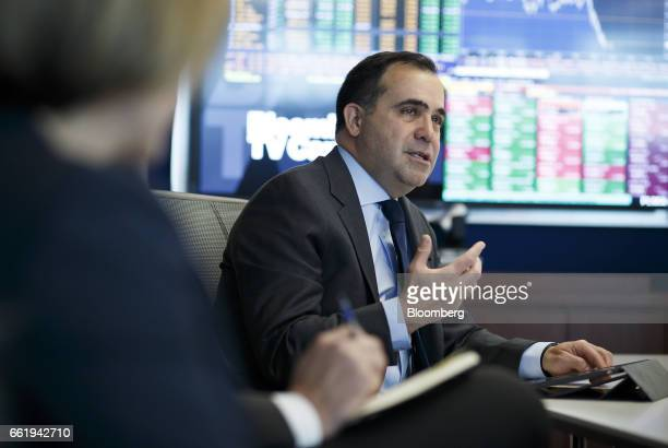 Alf Barrios chief executive of Rio Tinto Alcan Inc speaks during an interview in Toronto Ontario Canada on Friday March 31 2017 'The Canadian and the...