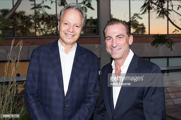 Alf Naman and friend attend the Anual Fundraising Event at Diller von Furstenberg Sundeck on September 16 2015 in New York City
