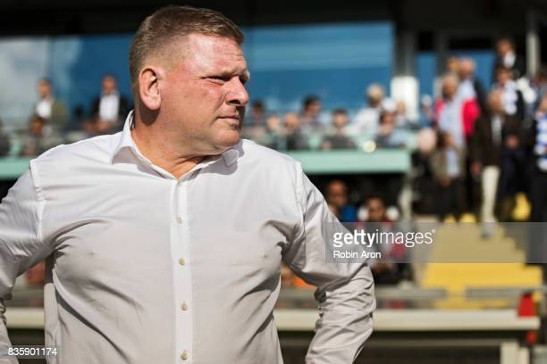 Alf Westerberg head coach of IFK Goteborg before the Allsvenskan match between IFK Goteborg and BK Hacken at Gamla Ullevi on August 20 2017 in...