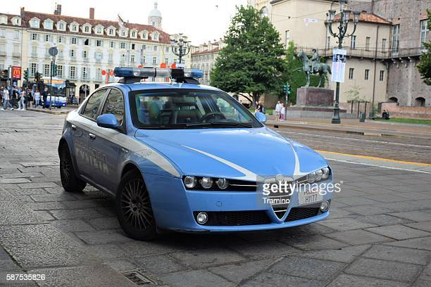 Alfa Romeo 159 police car on the street