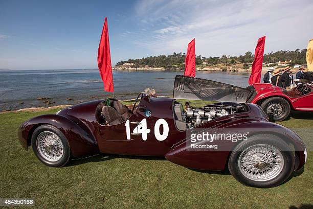 Alfa Romeo Automobiles SpA 6C 2300 B MM Touring Style Spider Corsa vehicle is displayed during the 2015 Pebble Beach Concours d'Elegance in Pebble...