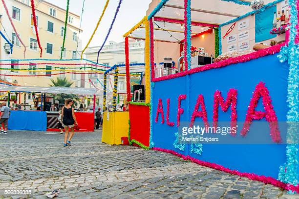 Alfama celebration on Rua S?o Miguel