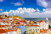 Lisbon, Portugal cityscape in the Alfama District.
