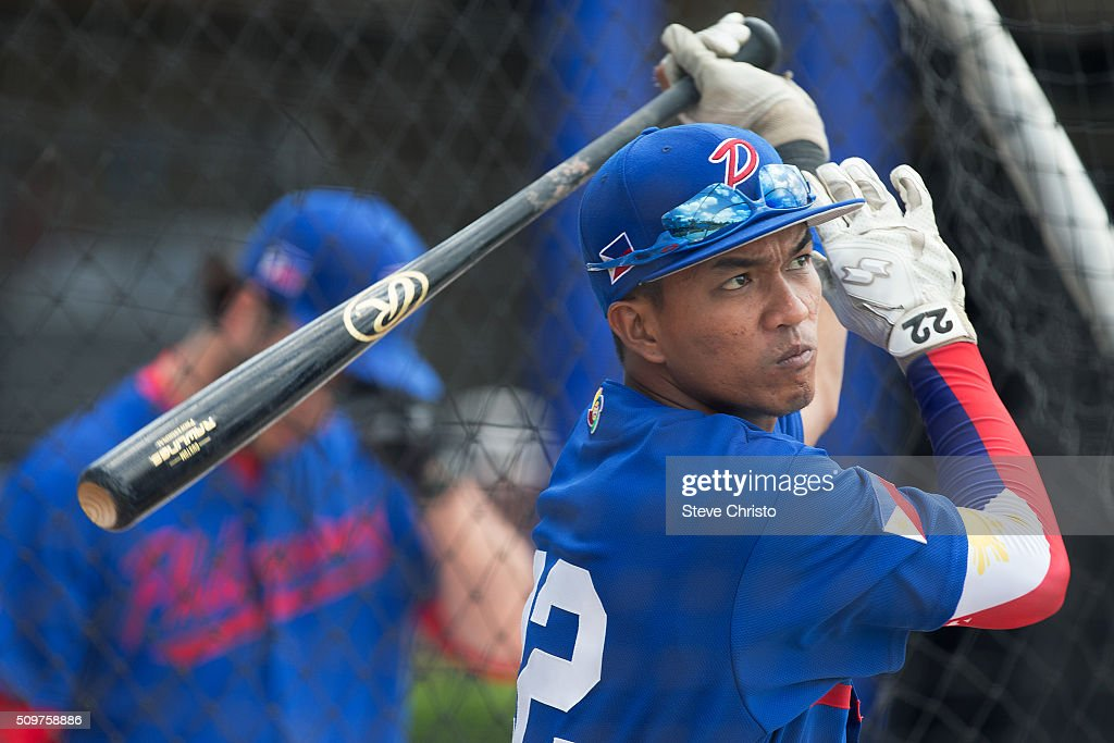 Alferdo Olivares #22 of Team Philippines takes batting practice before Game 3 of the World Baseball Classic Qualifier against Team New Zealand at Blacktown International Sportspark on Friday, February 12, 2016 in Sydney, Australia.