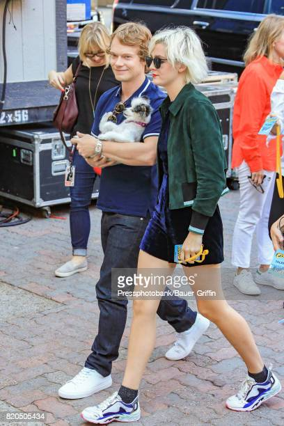 Alfie Allen and Jaime Winstone are seen at 'Conan' at Comic Con on July 21 2017 in San Diego California