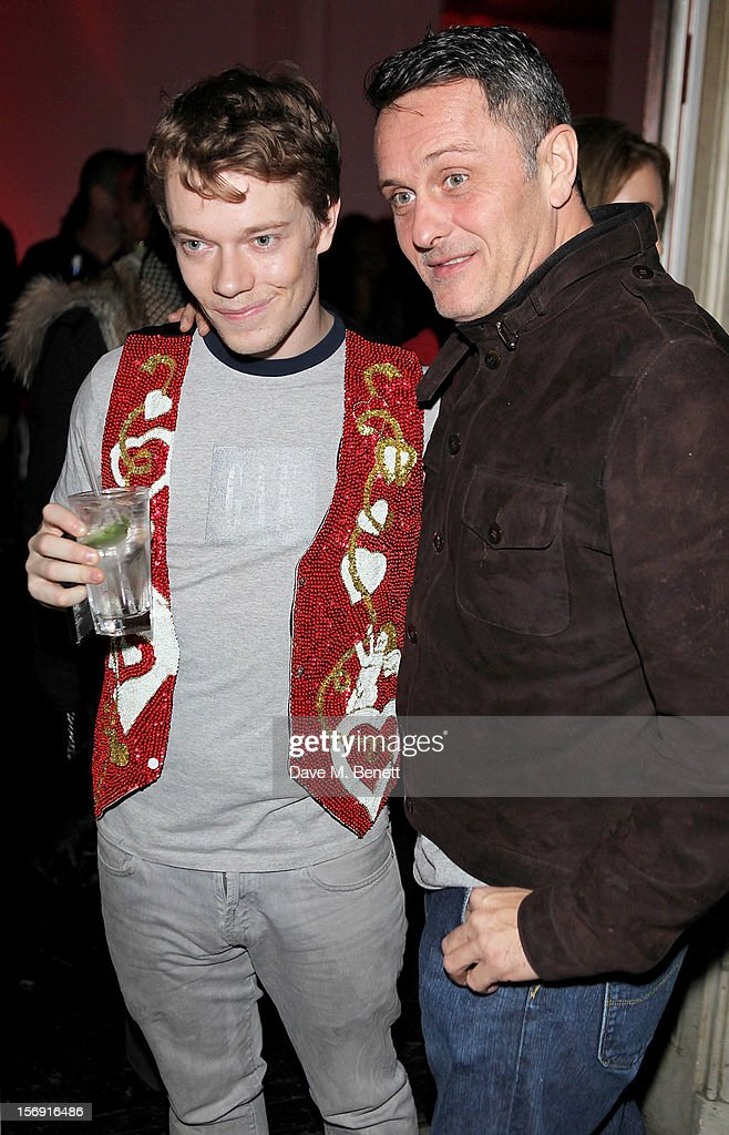 <a gi-track='captionPersonalityLinkClicked' href=/galleries/search?phrase=Alfie+Allen&family=editorial&specificpeople=885196 ng-click='$event.stopPropagation()'>Alfie Allen</a> (L) and Warren Bradshaw attend the Cuckoo Club and Show Pony pop up club, celebrating Cuckoo's 7th birthday, at 6 Grosvenor Place on November 24, 2012 in London, England.